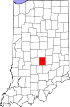 State map highlighting Johnson County
