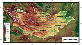 Géographie de la Mongolie — Wikipédia