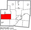 Map of Shelby County Ohio Highlighting Cynthian Township.png
