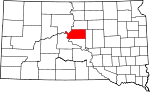 State map highlighting Sully County