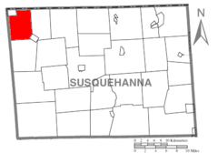 Map of Susquehanna County Pennsylvania highlighting Apolacon Township.PNG