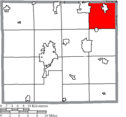 Location of Chippewa Township in Wayne County