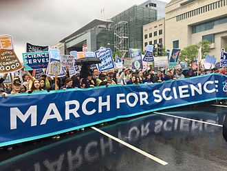 March for Science - Protestors march towards the Capitol Building