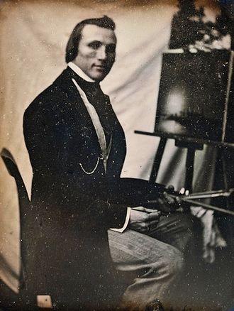 Marcus Larson - Daguerreotype photograph of Larson