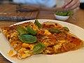 Margherita pizza on plate 2.jpg