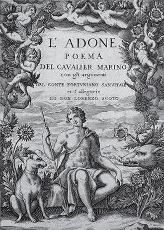 Giambattista Marino - Title page of L'Adone
