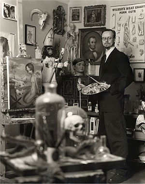 Mark Ryden - Mark Ryden at his studio.