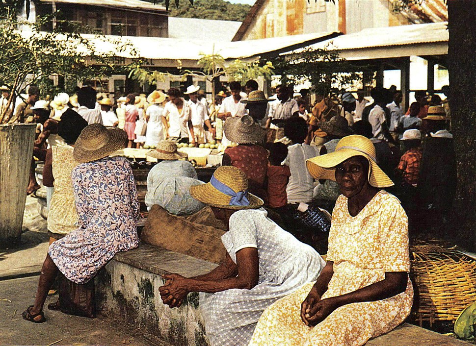 Market scene Seychelles