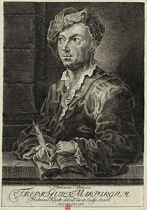 Friedrich Wilhelm Marpurg - Friedrich Wilhelm Marpurg, German musicologist in the Age of Enlightenment. Etching by Berol after a drawing by Friedrich Kauke (1758).