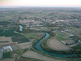 Marsillargues - An aerial view of Marsillargues