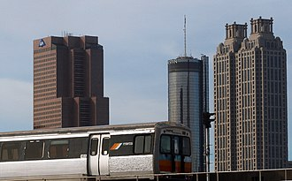 Metropolitan Atlanta Rapid Transit Authority - Image: Marta atlanta skyline