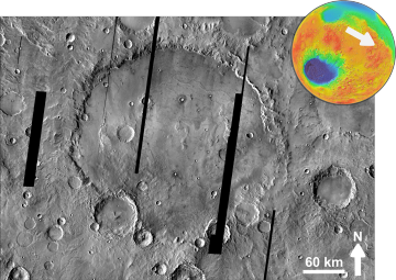 Martian impact crater Herschel based on THEMIS Day IR.png