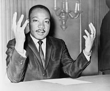 Martin Luther King durante una conferenza