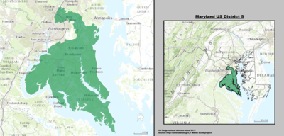 Maryland's 5th congressional district - since January 3, 2013.