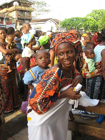 In 2010, Sierra Leone launched free healthcare for pregnant and breastfeeding women Maternal health (4798750001).jpg