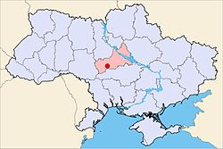 Map of Ukraine with Maydanets highlighted.