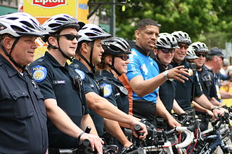 Kevin Johnson - Image: Mayor Kevin Johnson and bike patrol