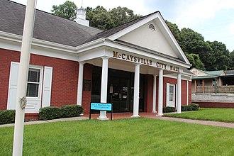 McCaysville, Georgia - McCaysville city hall
