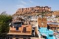 Mehrangarh over the rooftops of Jodhpur.jpg