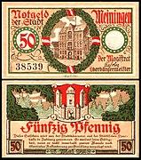 Meiningen Notgeld 50 Pfg 1920 Rathaus.jpg