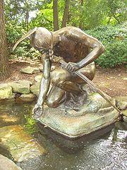 Menotomy Indian Hunter by Cyrus E. Dallin - Arlington, Massachusetts