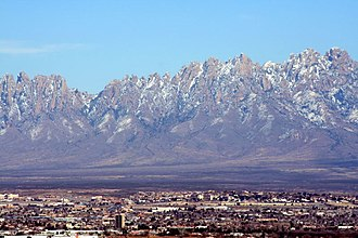 Mesilla Valley - The Organ Mountains tower over the Mesilla Valley (Las Cruces, NM in the foreground).