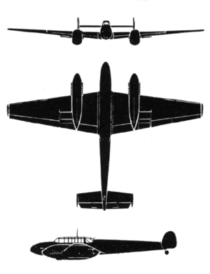 Messerschmitt Me 110C drawings 1943