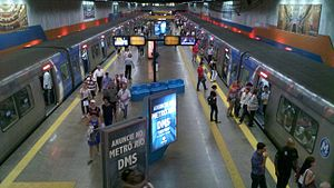 Cinelândia Station - View of platforms at Cinelândia