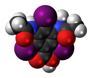 Metrizoic acid - Image: Metrizoic acid 3D spacefill