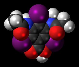 Metrizoic acid - Image: Metrizoic acid 3D spacefill