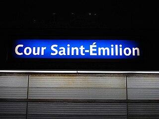 Cour saint milion m tro de paris wikip dia - Cours saint emilion paris ...
