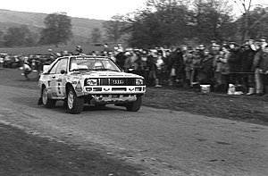 Wales Rally GB - Michèle Mouton at the 1984 rally with an Audi Sport Quattro