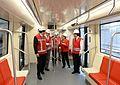 Michelle Bachelet visita instalaciones del Taller Cerrillos de nueva Línea 6 de Metro (30774711875).jpg
