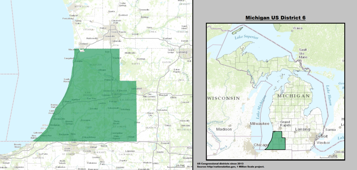 Michigans Th Congressional District Wikipedia - 40th parallel us map