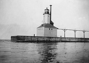 Michigan City East Light - Undated US Coast Guard archive photo