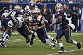 Midshipmen on offense at 2009 Texas Bowl 3.JPG