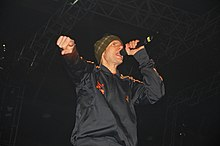 Mike D singing with the Beastie Boys at Trans Musicales 2004 in Rennes