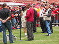 Mike Singletary & Gary Plummer at 49ers Family Day 2009 2.JPG