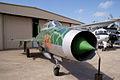 Mikoyan-Gurevich MiG-21US Mongol-B RFront CFM 7Oct2011 (15302121316).jpg
