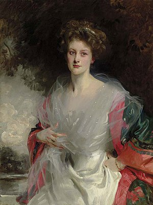 Archibald Acheson, 5th Earl of Gosford - His first wife, Mildred Carter, John Singer Sargent, 1908