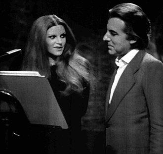 Milva - Milva and Italian composer Giorgio Gaslini in 1975