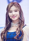Minatozaki Sana in a showcase on October 30, 2017 (2).jpg