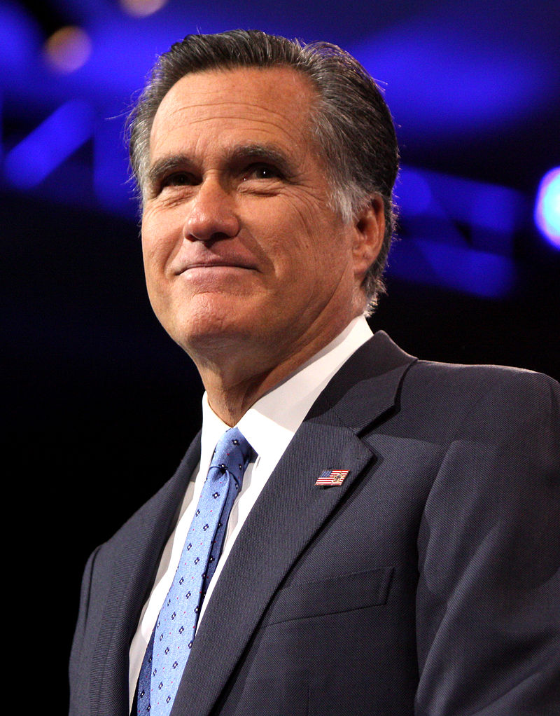 Former Massachusetts Governor and 2012 Republican Presidential nominee Mitt Romney