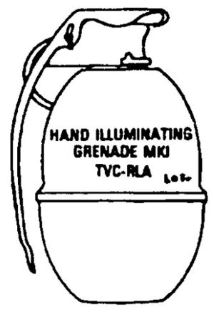 United States hand grenades - Drawing of the Mk 1 Illumination Grenade
