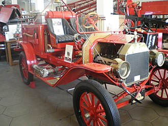 Los Angeles Fire Department Museum and Memorial - Model T fire engine on display at museum