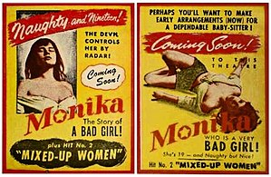 Summer with Monika - Two small promotional flyers for the American presentation of the film.