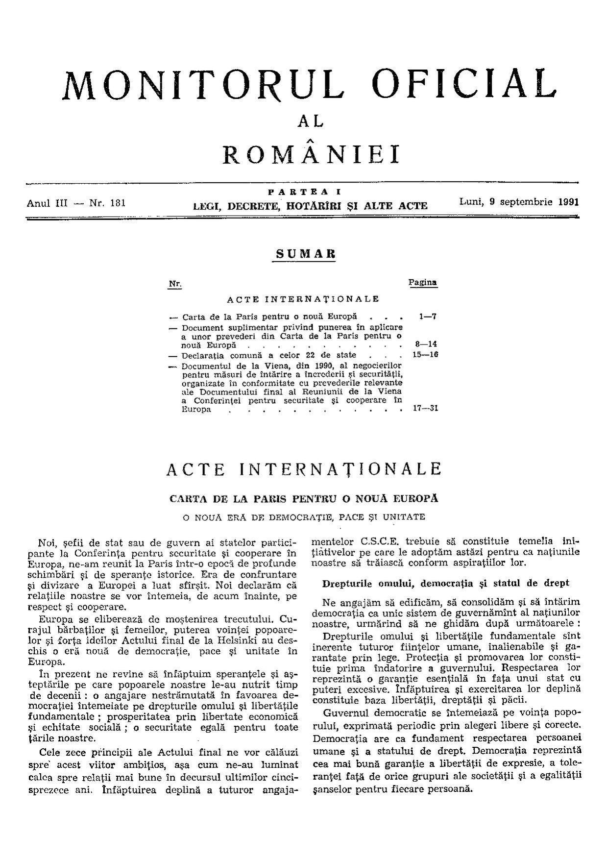 Filemonitorul Oficial Al Romniei Partea I 1991 09 Nr 181pdf Original File 1239 X 1754 Pixels Size 211 Mb Mime