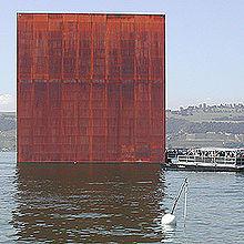 Monolito dell'Expo 2002 a Murten, in Svizzera