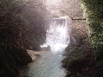Province of Avellino - The Lavandaia Falls at Montella.