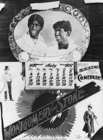 David C. Montgomery - 1897 poster for the Montgomery and Stone blackface minstrel act